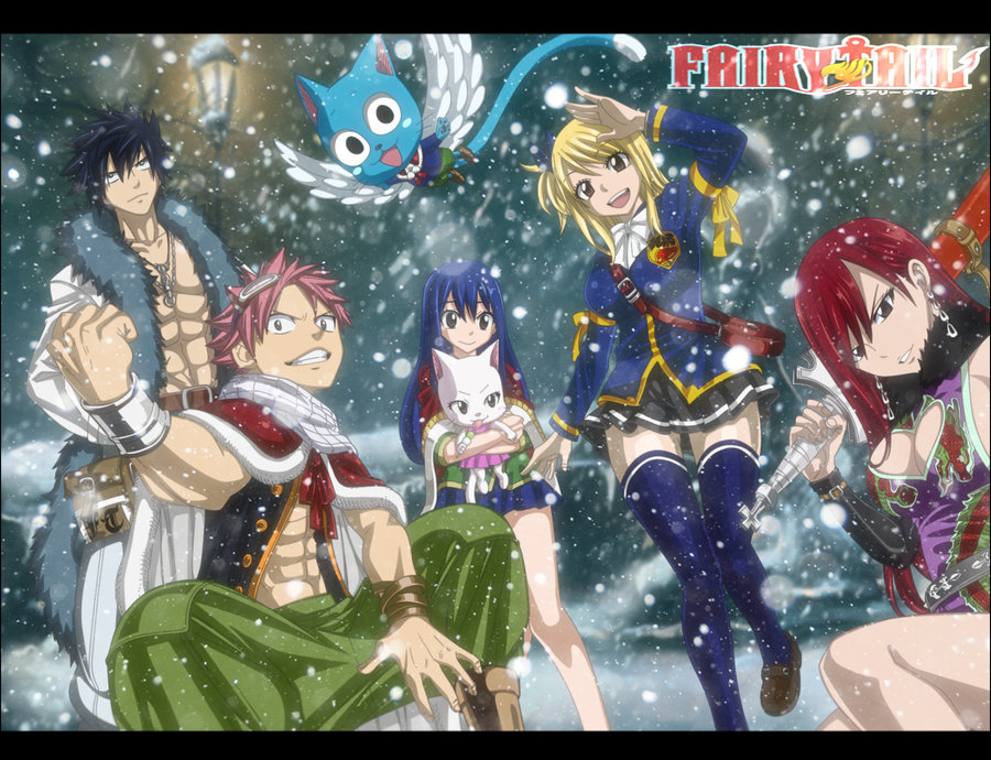 Team Natsu Winter by HikaHitmanR 900x690