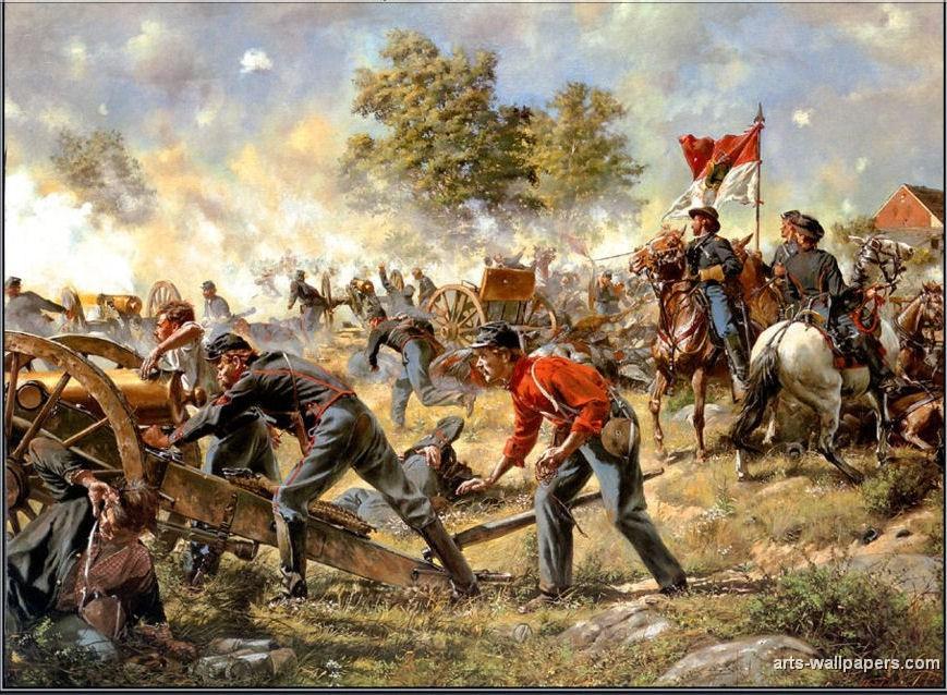 American Civil War Wallpaper American civil war paintings 869x638