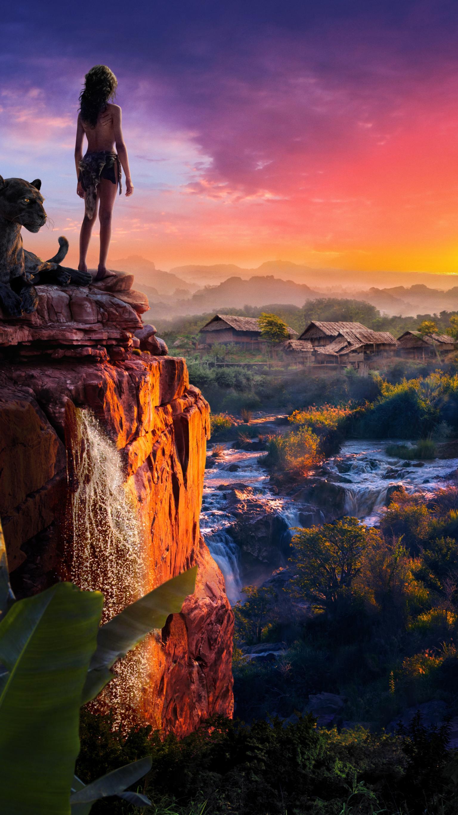 Mowgli Legend of the Jungle 2018 Phone Wallpaper Moviemania 1536x2732