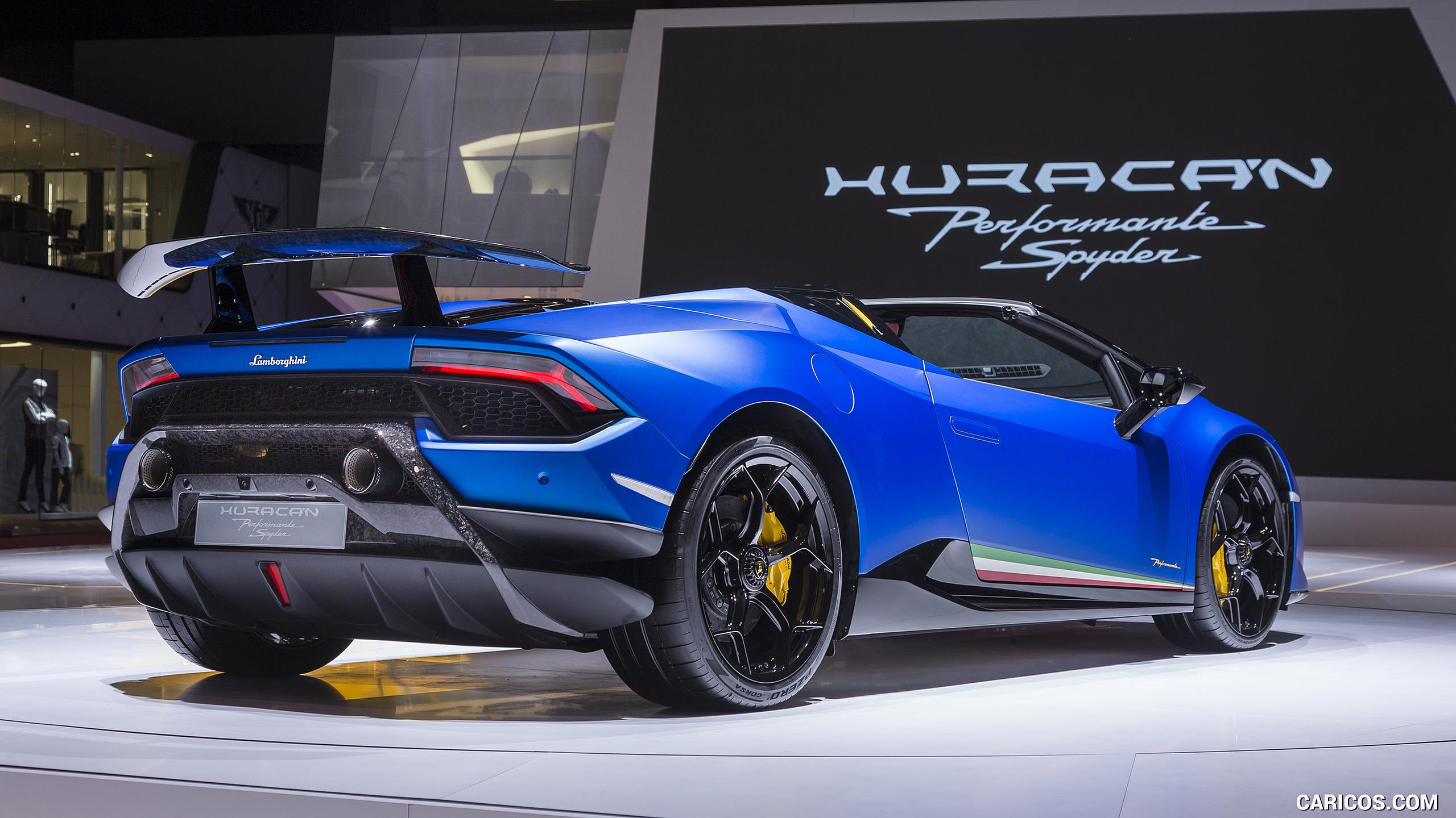 2019 Lamborghini Huracn Spyder Performante at Geneva Auto Show 2560x1440