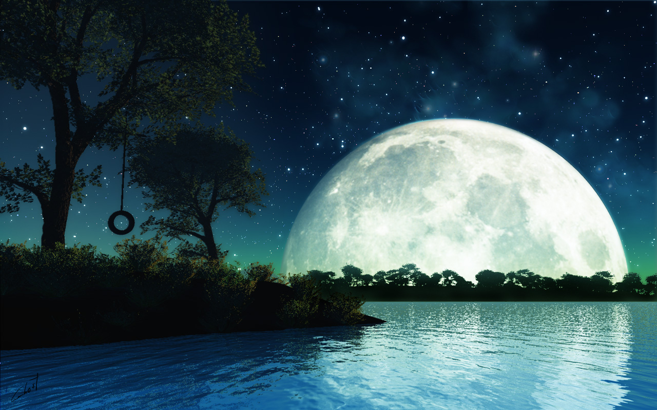 Moon Light Theme For Windows   1280x800 iWallHD   Wallpaper HD 1280x800