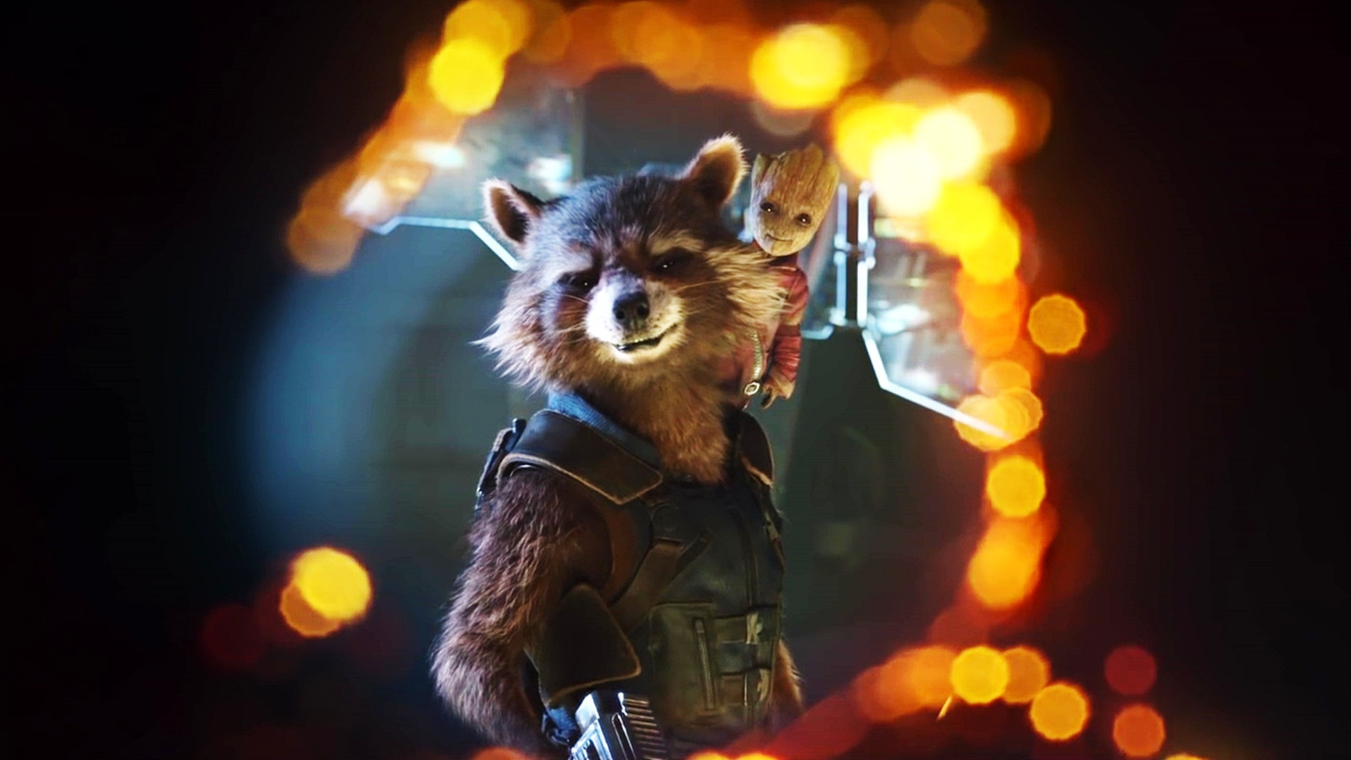 Guardians Of The Galaxy 2 Raccoon   1920x1080 Wallpaper   teahubio 1920x1080