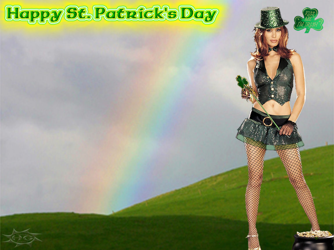 Dianna Agron Hair St Patrick s Day Wallpapers 1152x864