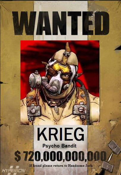 WANTED KRIEG THE PSYCHO BANDIT by Dusk 728 407x589