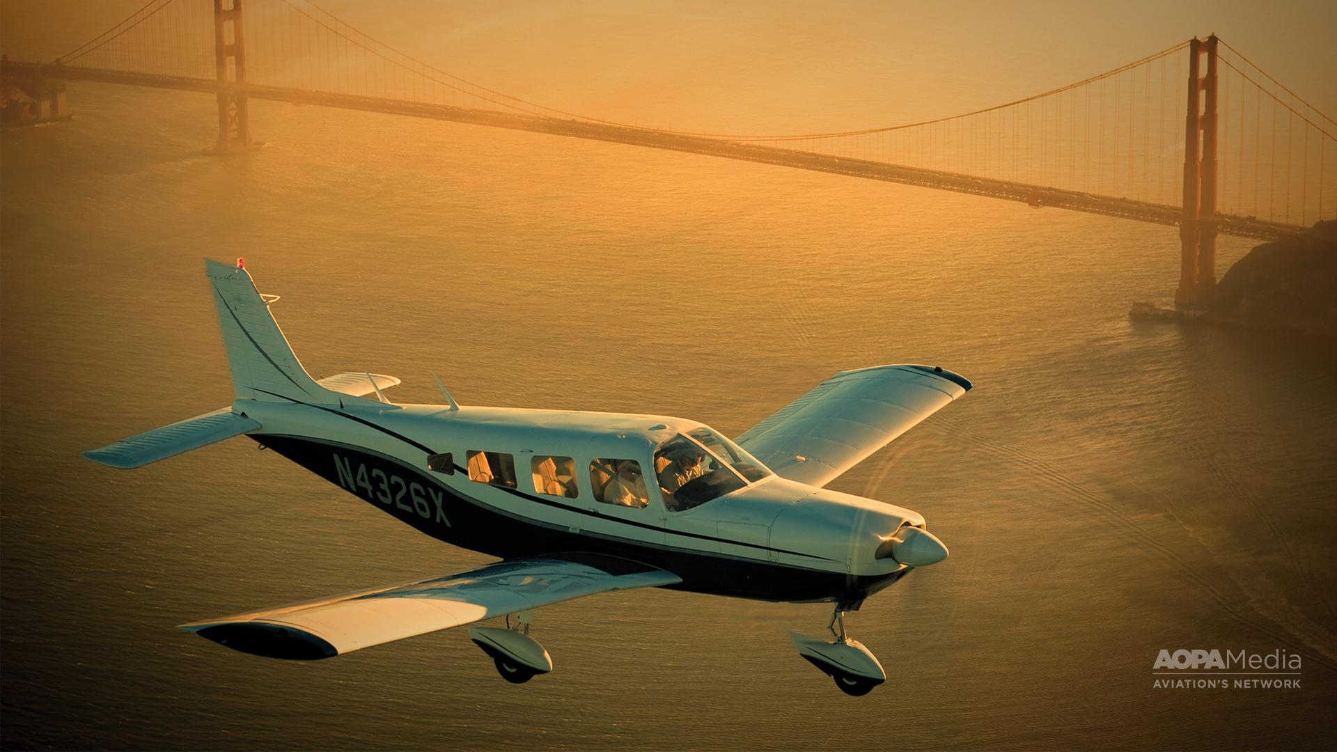 Piper Cherokee Six San Francisco CA 1920x1080