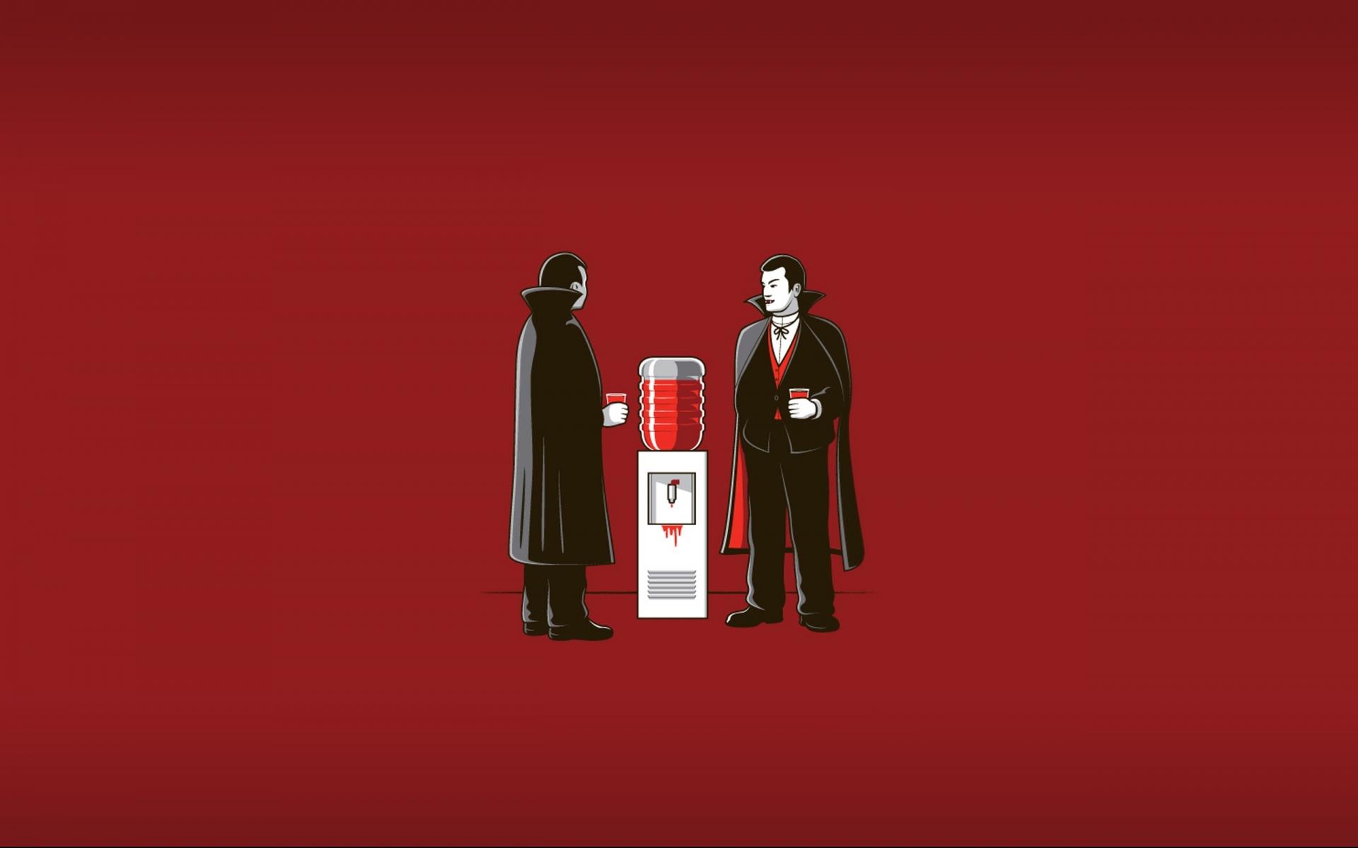 Humor funny office dark horror vampire blood wallpaper 1920x1200 1920x1200