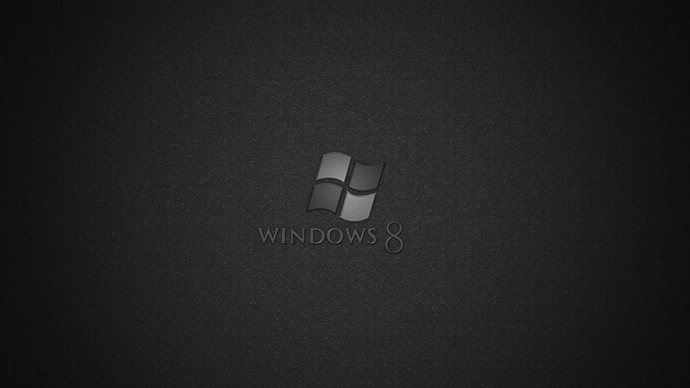 1366x768 Windows 8 Black desktop PC and Mac wallpaper 1366x768