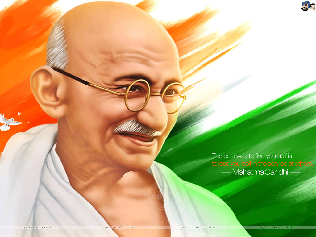 Mahatma Gandhi Wallpaper 7 1024x768