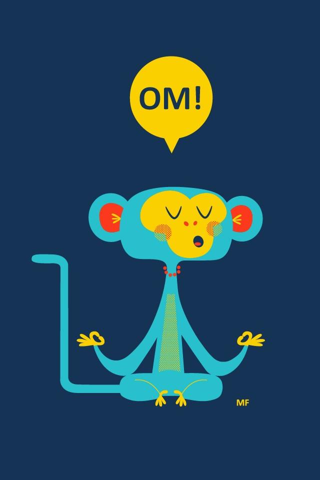 Om Cute Monkey iPhone 4s Wallpaper Download iPhone Wallpapers iPad 640x960