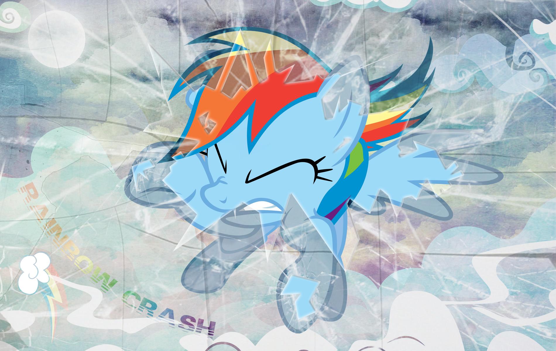Rainbow Crash In Your Screen Wallpaper by MLArtSpecter 1900x1200