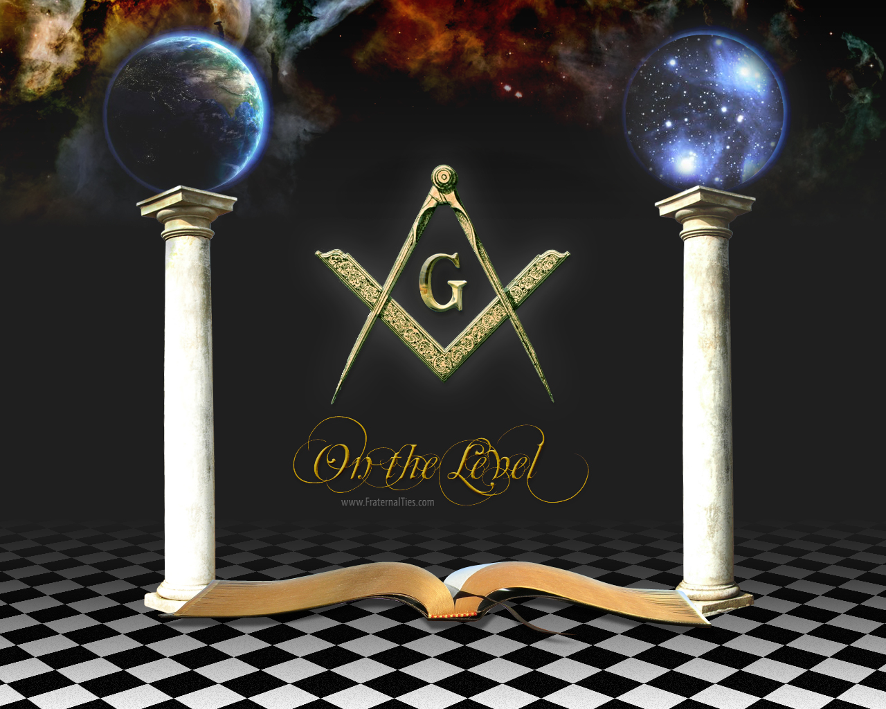 SC 2108bChrome Masonic Logo HD Wallpaper Clipart Freemason Templar Art 1280x1024