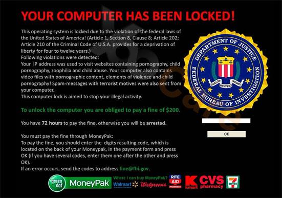 FBI Virus Scam Locked Computer Screen Remove FBI Moneypak Virus From 551x387