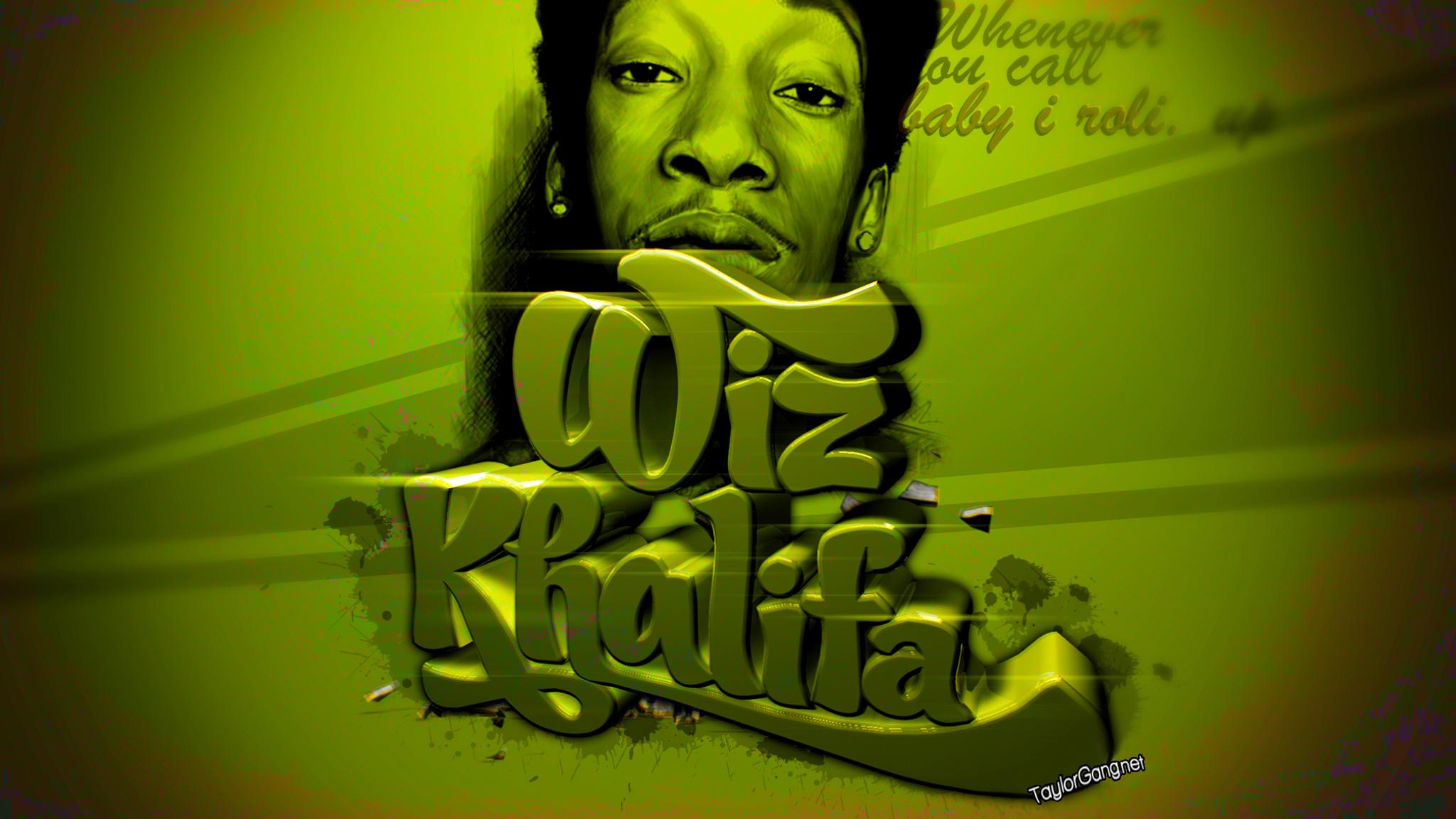 Wiz Khalifa Green Rap Wallpapers 2048x1152
