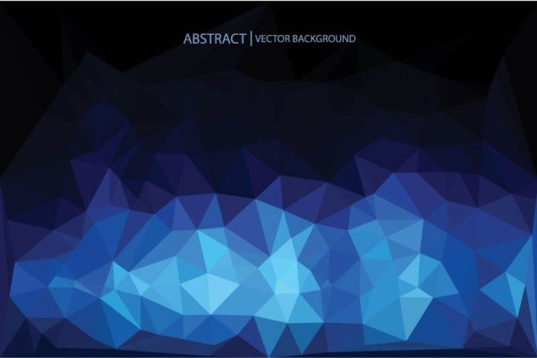 Designer Modern design abstract blue triangle background 600x400