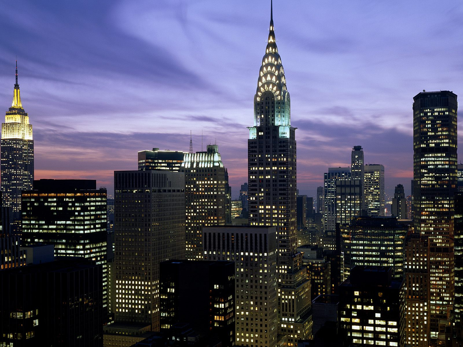 Midtown Skyline New York City World Wallpaper Collection 1600x1200