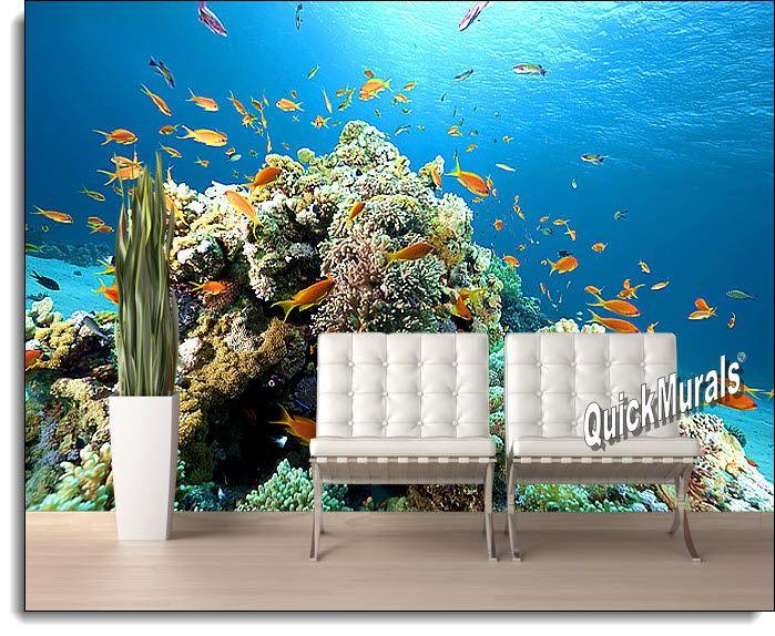 Coral Reef Wall Mural QuickMurals Full Size Peel Stick Self Stick 699x574