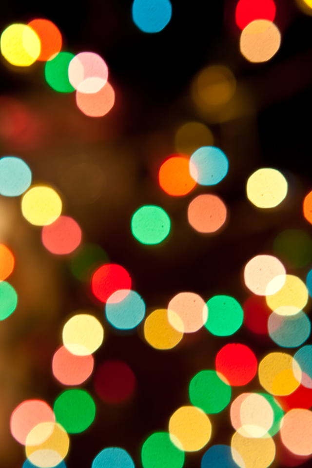 Christmas Tree Lights Wallpaper Iphone Blackberry Best Home 640x960