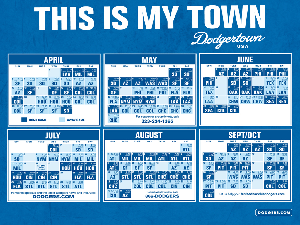 Dodgers Calendar.47 Dodgers Schedule Wallpaper On Wallpapersafari