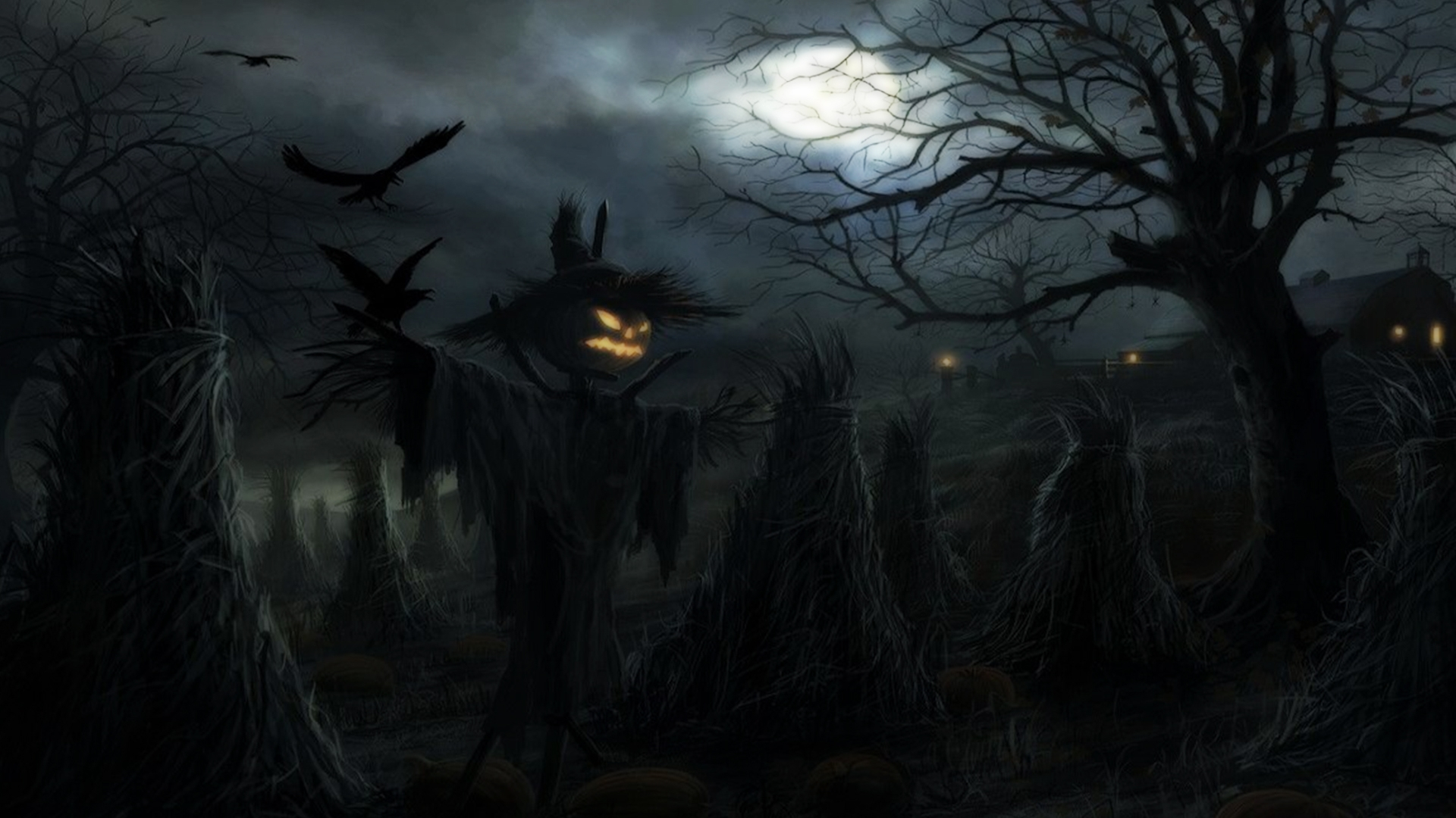 Download Scary Halloween Backgrounds   wallpaperwiki 1920x1080
