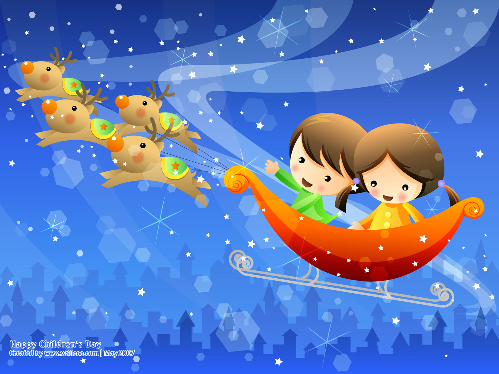 Colourful Illustrations for Childrens Day 16001200 NO10 Wallpaper 1600x1200