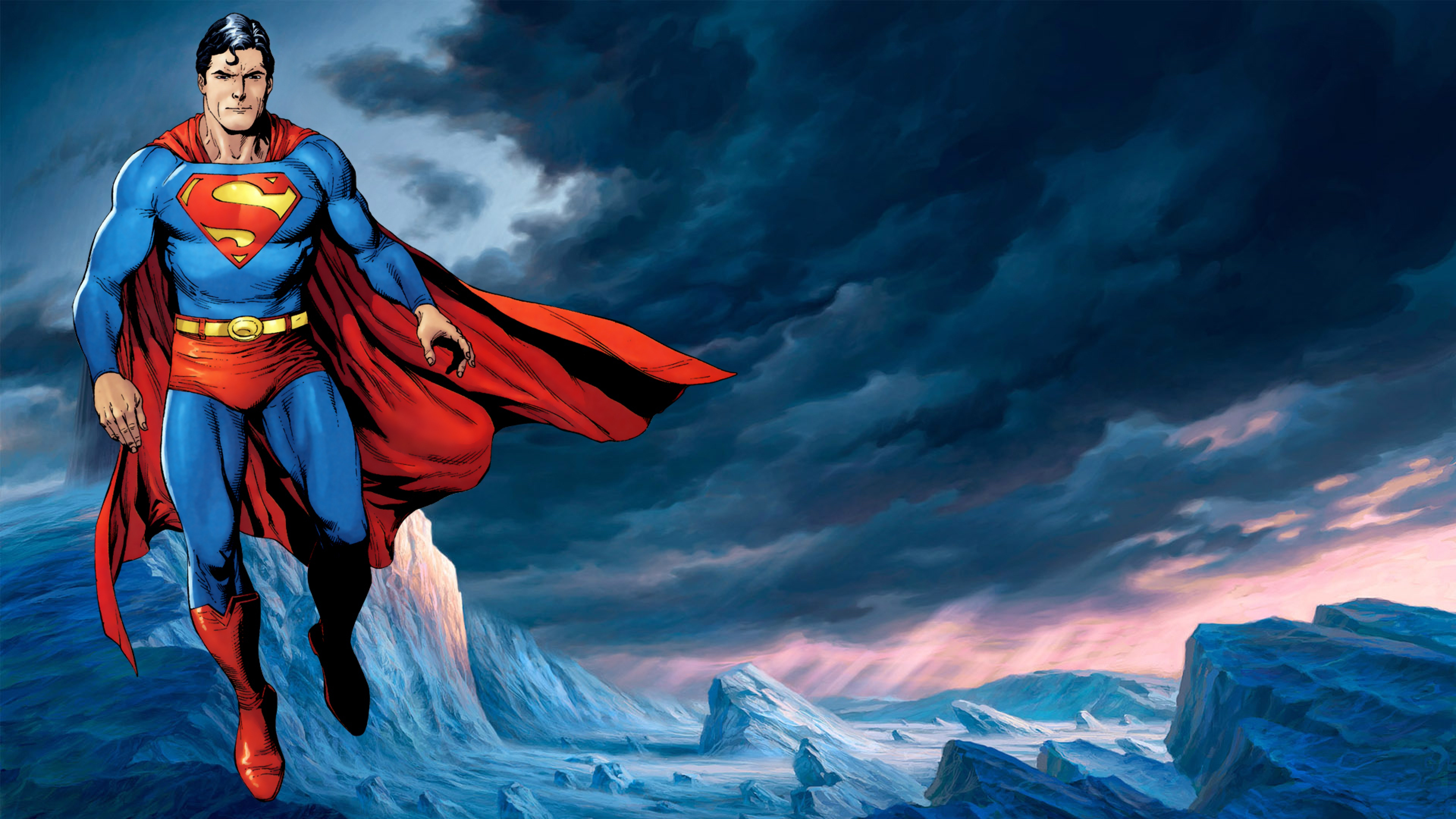 Superman Action comics Dc comics Wallpaper Background 4K Ultra HD 3840x2160