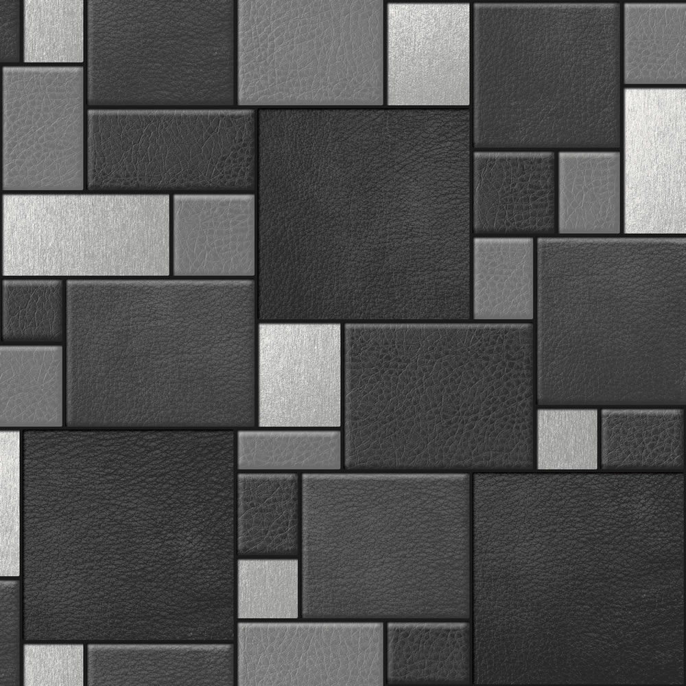 Wallpaper squares tiles wallpapersafari for Black 3d tiles wallpaper