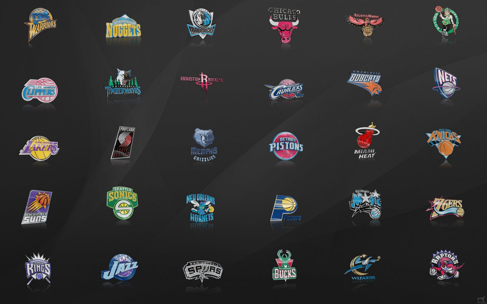 NBA wallpaper Teams logo NBA Wallpaper 1600x1000