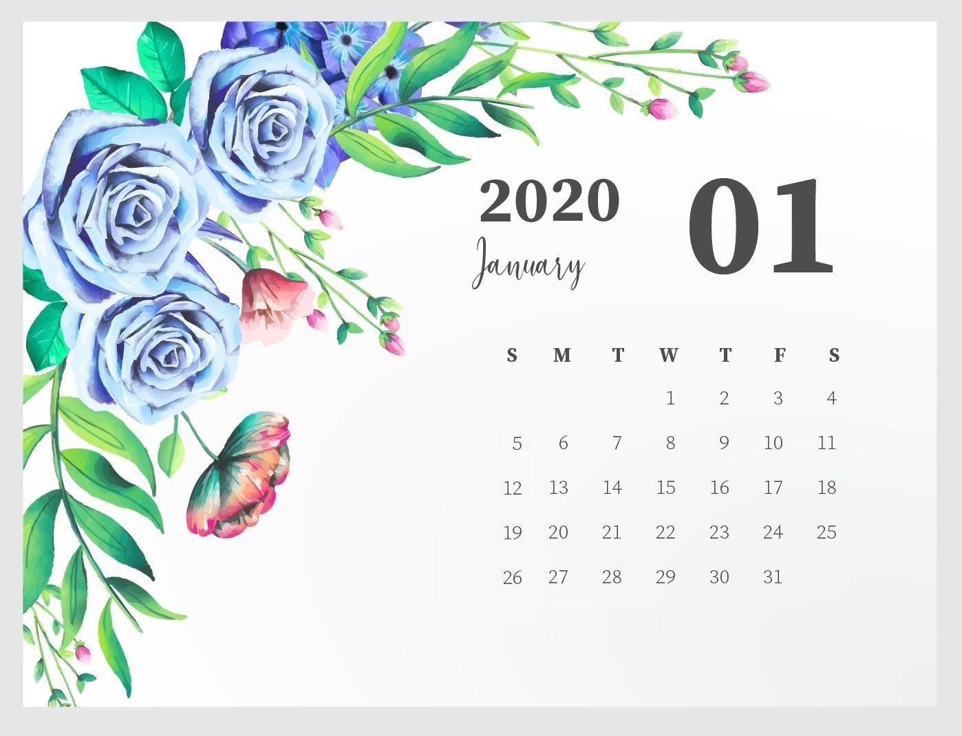 Best January 2020 Calendar Designs Latest Calendar 1398x1070