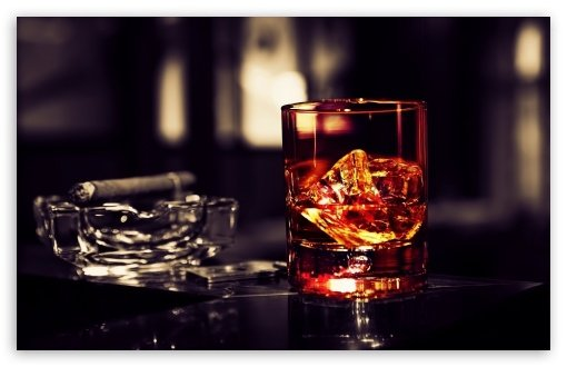 Whisky Ice Cigar HD wallpaper for Standard 43 54 Fullscreen UXGA XGA 510x330