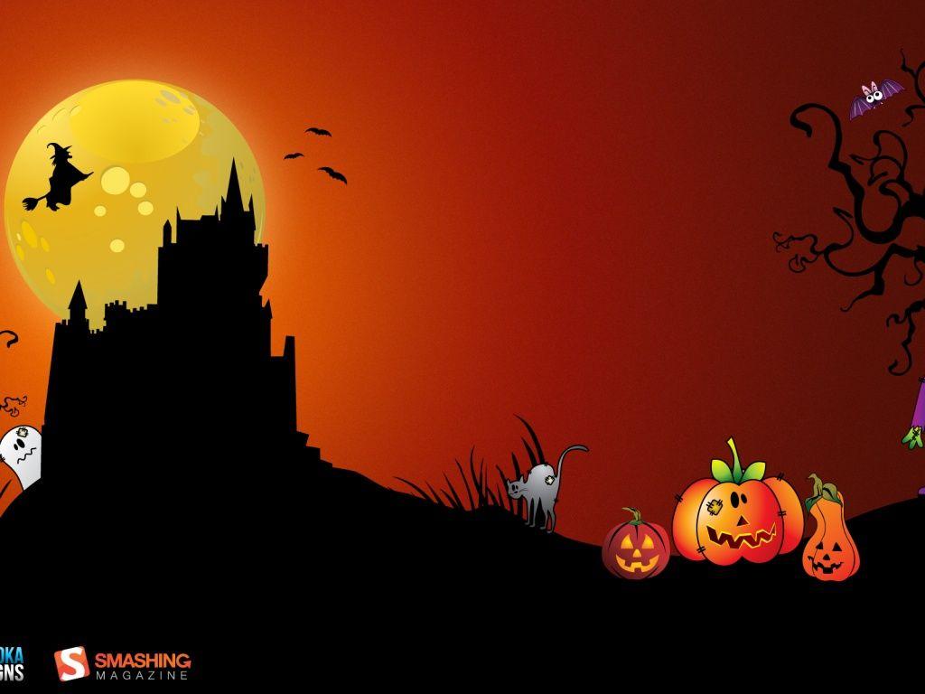 halloween desktop backgrounds Halloween Desktop Oldtime 1024x768