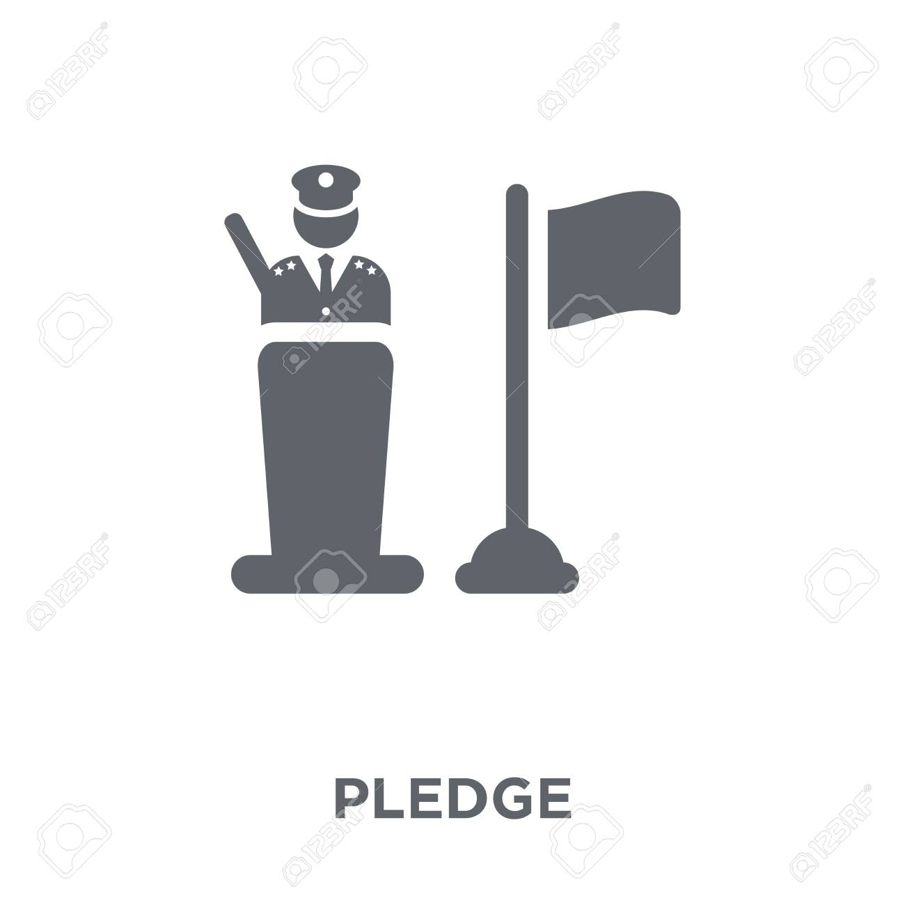 Pledge Icon Pledge Design Concept From Army Collection Simple 1300x1300