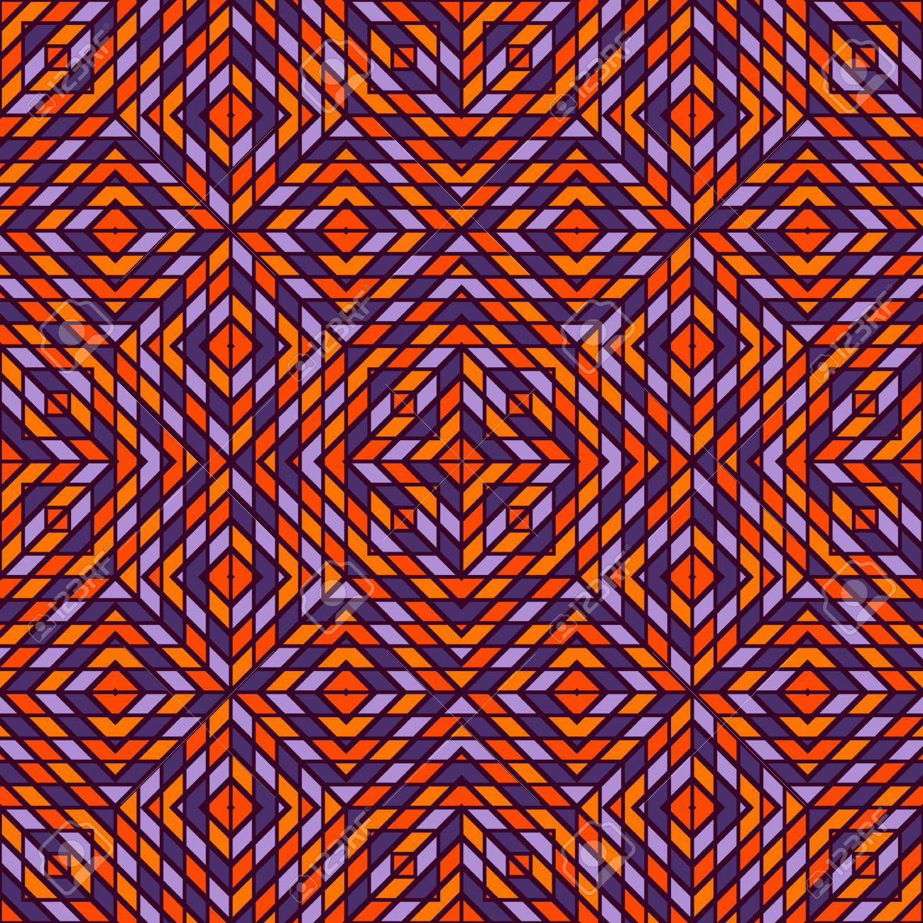 Seamless Pattern In Halloween Traditional Colors With Kaleidoscope 1300x1300