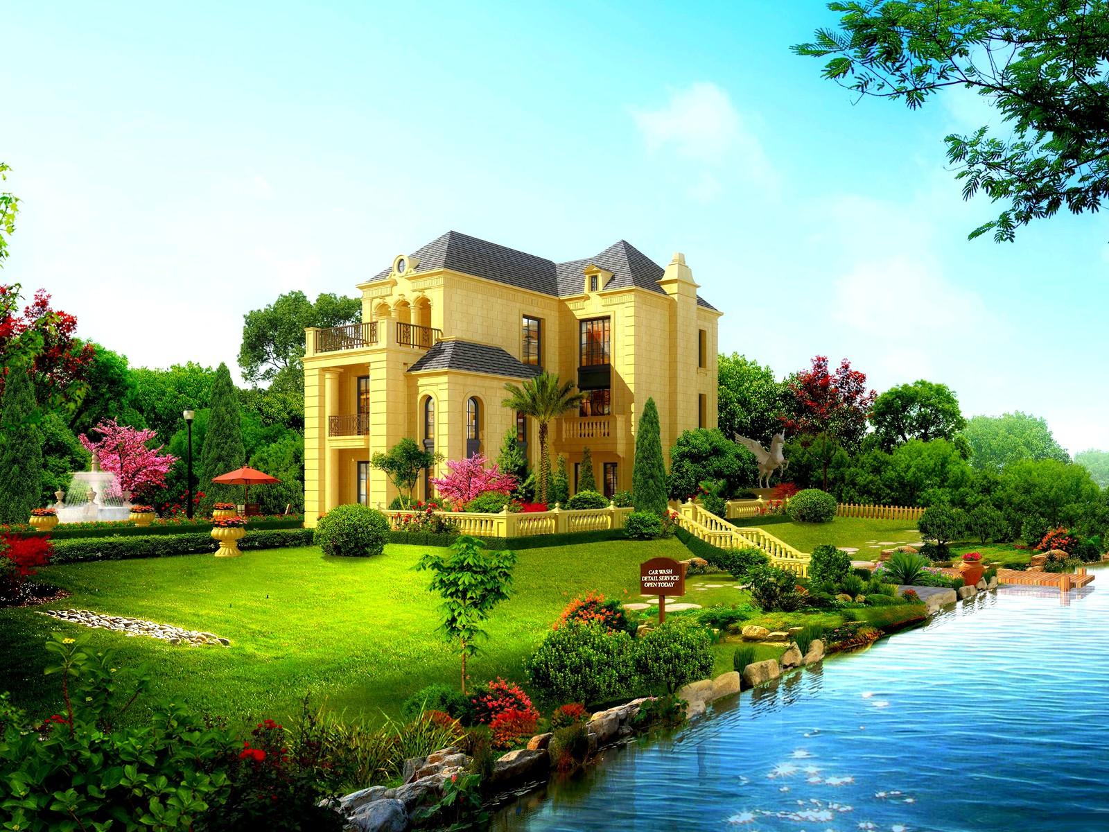 Beautiful house wallpaper 10490 PC en 1600x1200