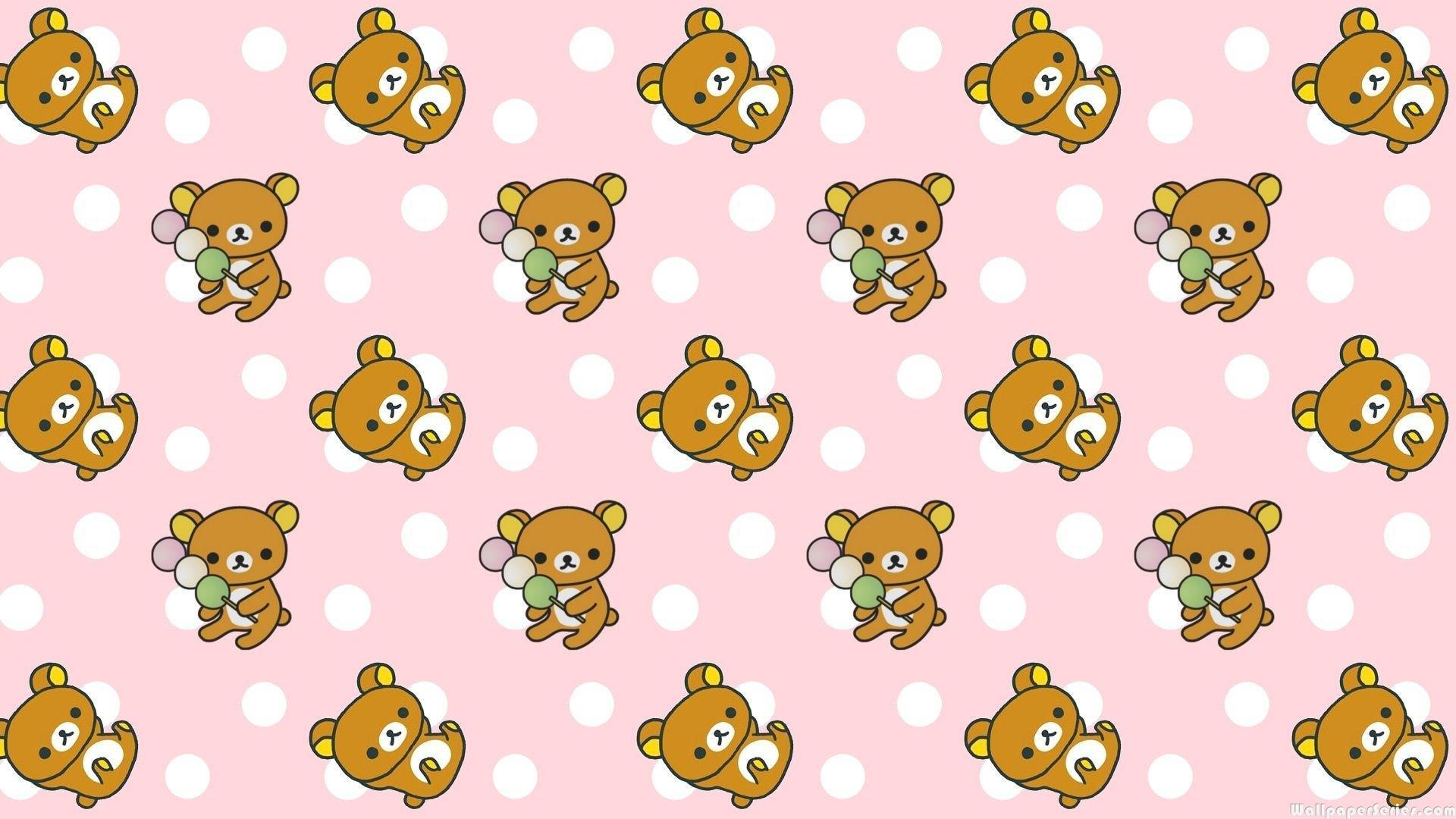 HD Rilakkuma Cute Pattern Wallpaper Download 139090 1920x1080