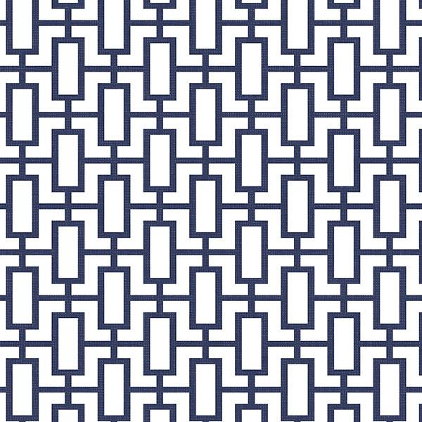 Modern Geometric Wallpaper Navy Blue White Set of 2 Bolts modern 600x600