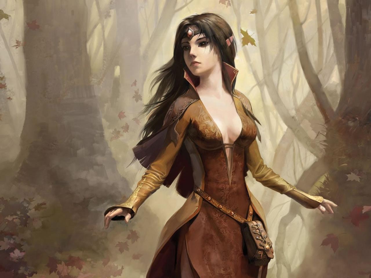wallpaper forest elf girl wallpaper elf fantasy girl desktop 1280x960