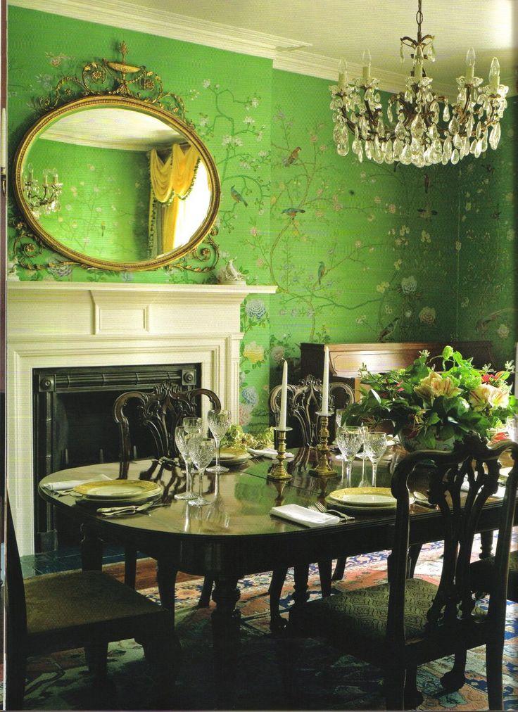 hand painted silk wallpaper Wallpapers Pinterest 736x1012