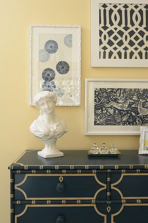 fabric or wallpaper become art when they are beautifully custom framed