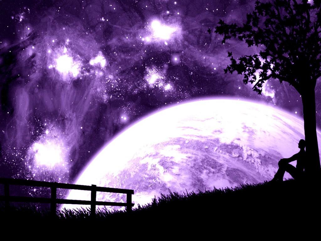 Purple Moon Wallpaper 2793 Hd Wallpapers in Space   Imagescicom 1024x768