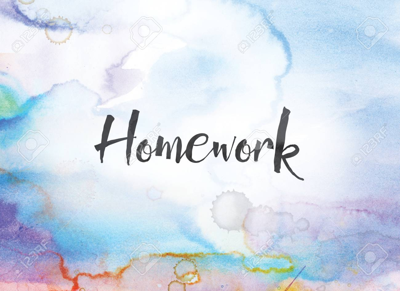 The Word Homework Concept And Theme Written In Black Ink On A 1300x945