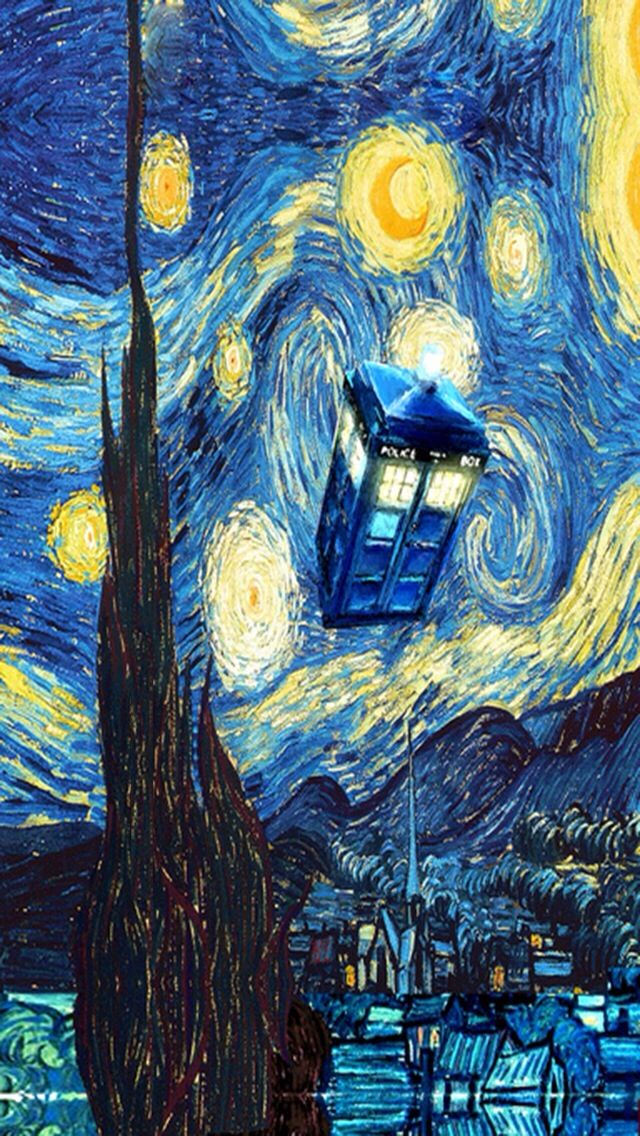 Doctor who Van Gogh phone background Doctor Who Pinterest 640x1136