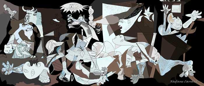 Picasso Guernica Wallpaper 700x297