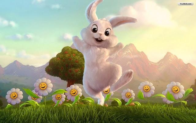 Download Wallpapers Happy Easter Bunny Wallpaper 640x400