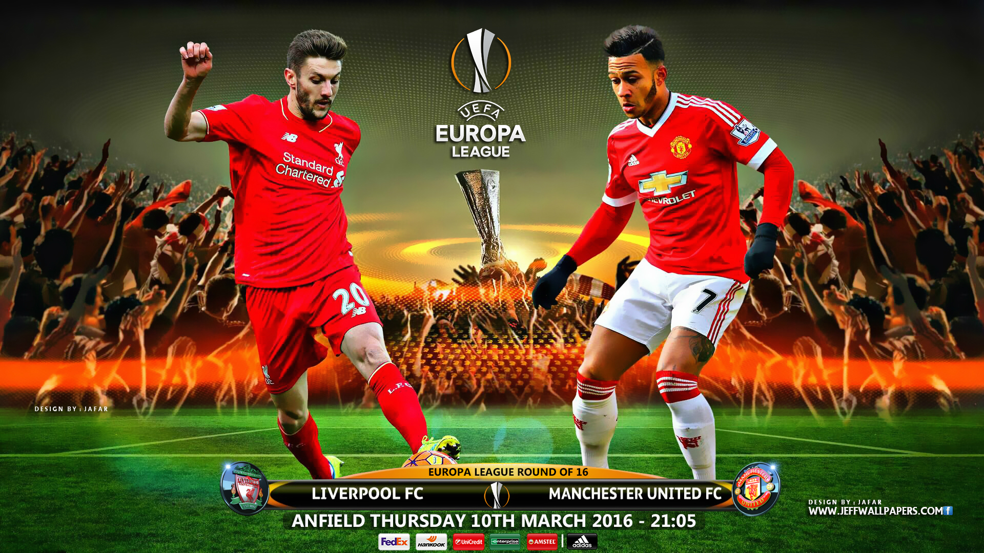 LIVERPOOL MANCHESTER UNITED EUROPA LEAGUE 2016 1920x1080