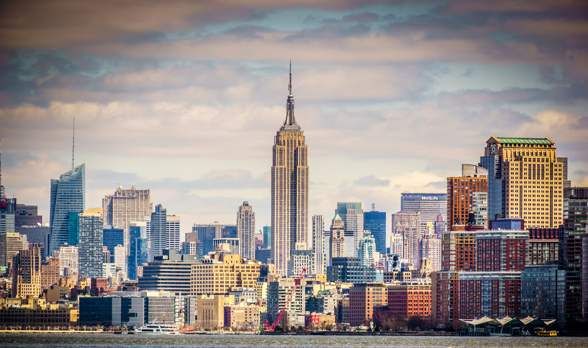 New York USA Empire State Building wallpaper 2048x1211