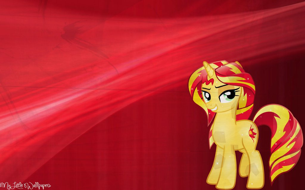 Free Download Sunset Shimmer Crystal Pony Wallpaper By