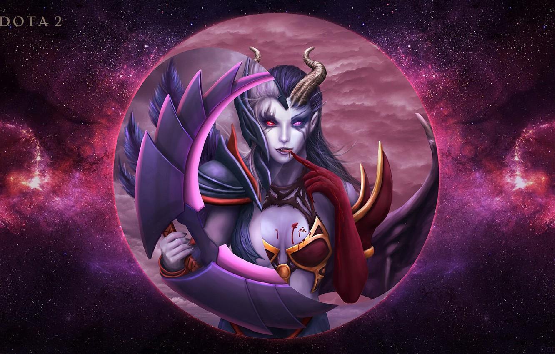 Free Download Wallpaper Moon Dota 2 Akasha Queen Of Pain