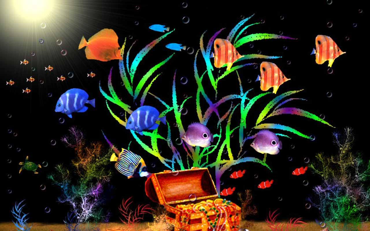 Aquarium live wallpaper windows 10 wallpapersafari for Live fish tank