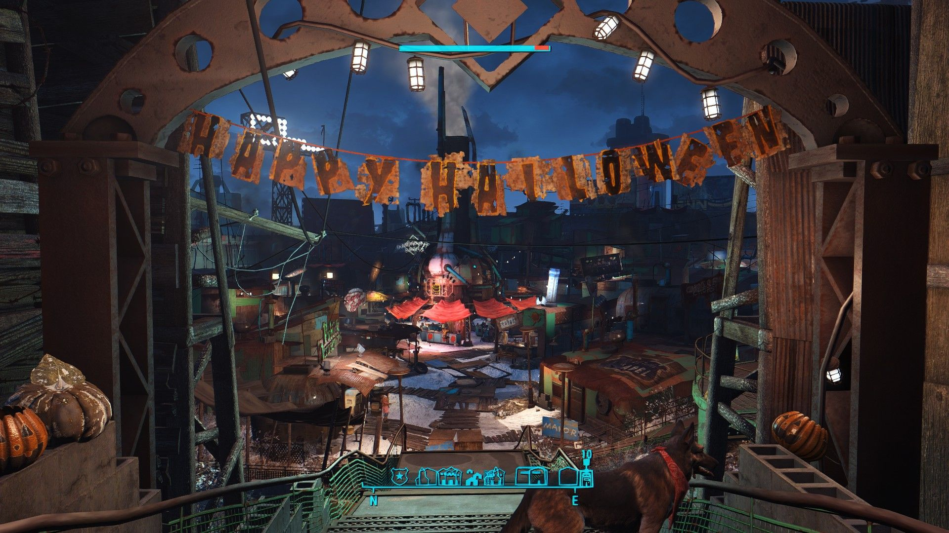 You know the Christmas decorations in Diamond City Apparently 1920x1080