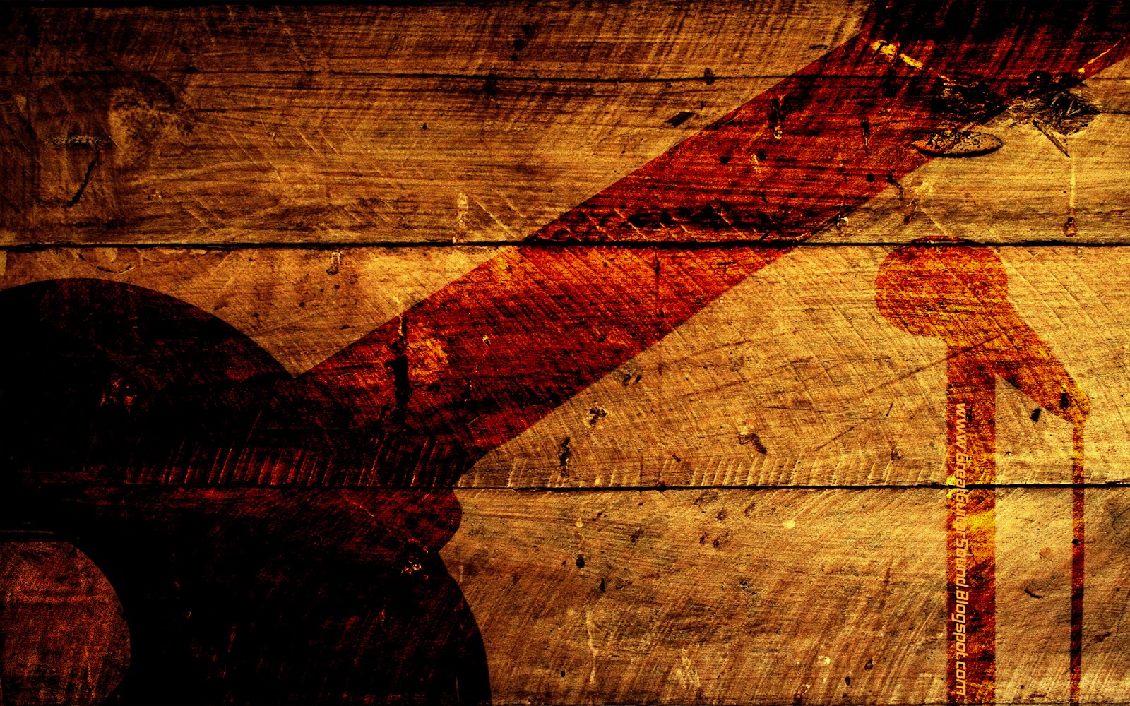 Music Wallpaper Acoustic Guitar Burned Shadow And Nickelback 1600x1000